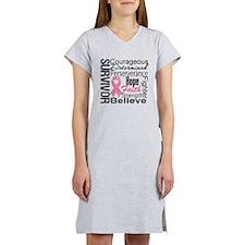 Breast Cancer Collage Women's Nightshirt