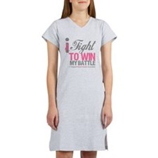 I Fight Win Breast Cancer Women's Nightshirt