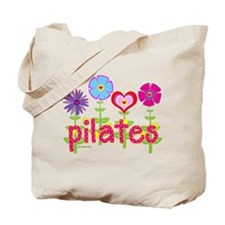 Green Ink Pilates Tote Bag