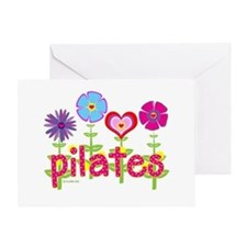 Green Ink Pilates Greeting Card