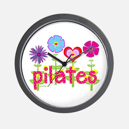 Green Ink Pilates Wall Clock