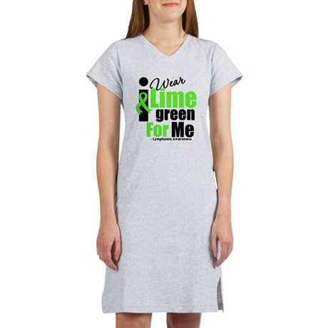 I Wear Lime Green For Me Women's Nightshirt