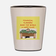 financial planners Shot Glass