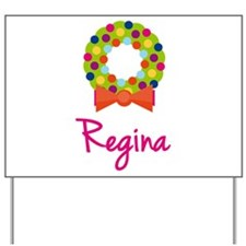Christmas Wreath Regina Yard Sign