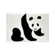 Panda Bear Rectangle Magnet