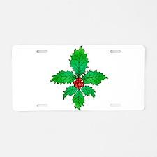 Holly Fleur de lis Aluminum License Plate