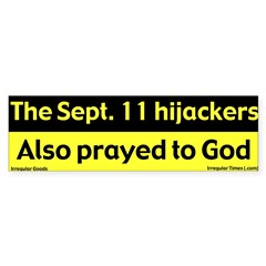 Hijackers Prayed Bumper Sticker