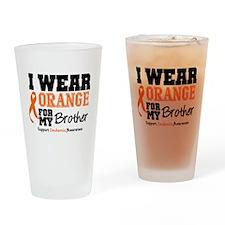 IWearOrange Brother Drinking Glass