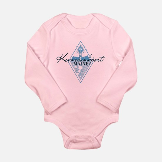 Kennebunkport, Maine Pink Baby Body Suit