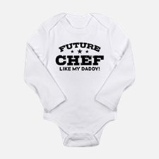 Future Chef Like my Daddy Long Sleeve Infant Bodys