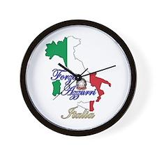Forza Azzurri Wall Clock