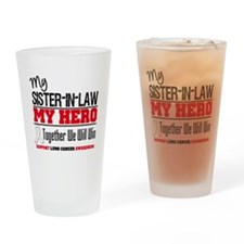 Lung Cancer Hero Drinking Glass