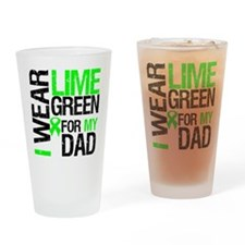 I Wear Lime Green For Dad Drinking Glass