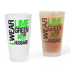 I Wear Lime Green Ribbon Drinking Glass