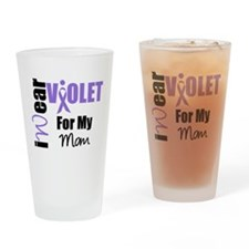 I Wear Violet Ribbon Drinking Glass