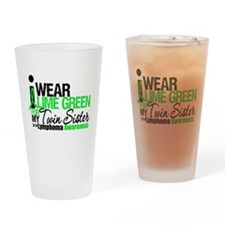 I Wear Pink For Twin Sister Drinking Glass
