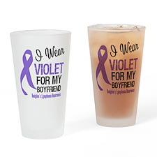 I Wear Violet Boyfriend Drinking Glass