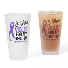 I Wear Violet For Brother Drinking Glass