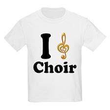 I Love Choir Treble Clef T-Shirt