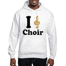 I Love Choir Treble Clef Hoodie