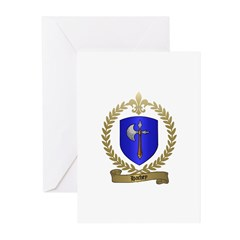 HACHEY Family Crest Greeting Cards (Pk of 10)