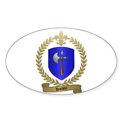 HACHEY Family Crest Oval Decal
