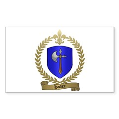 HACHEY Family Crest Rectangle Decal