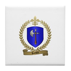 HACHEY Family Crest Tile Coaster