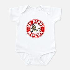 My Daddy Rocks - Fireman Infant Bodysuit