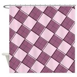 Argyle Out of Line Girly Shower Curtain