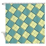 Argyle Out of Line Mellow Shower Curtain