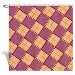 Argyle Out of Line Warm Shower Curtain