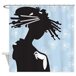 Asian Silhouette Shower Curtain