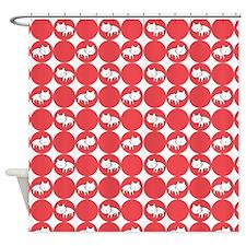 Cat Polka Shower Curtain