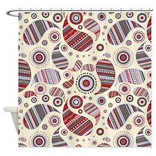Cranberry Paisley Shower Curtain