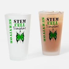 StemCellSurvivorButterfly Drinking Glass