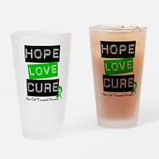 SCT Survivor Heart Ribbon Drinking Glass