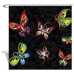 Flutterby Butterflies Shower Curtain