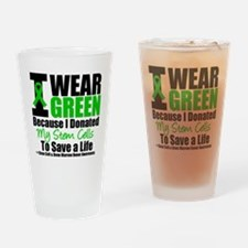 StemCellDonorIWearGreen Drinking Glass