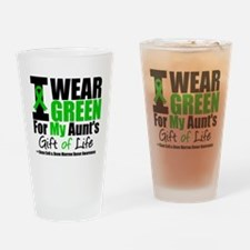 I Wear Green For My Aunt Drinking Glass