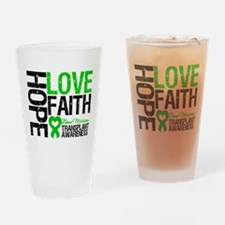 BMT Hope Love Faith Drinking Glass