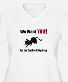 Zombie Kitty Attack Women's Plus Size T