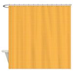Orange and Yellow Plaid Shower Curtain