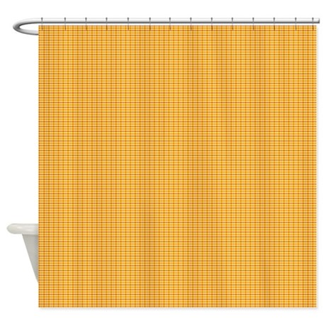 Orange And Yellow Plaid Shower Curtain By Kippygocontempo