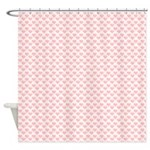 Pink Hearts Shower Curtain