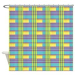 Pop Colorful Plaid Shower Curtain