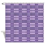 Purple Plaid Shower Curtain