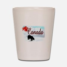 Bear Canada Shot Glass