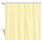 Yellow Hearts Shower Curtain