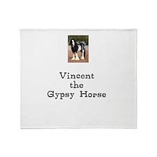 Cute Gypsy vanner horses Throw Blanket